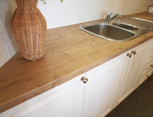 Timber look laminate bench top